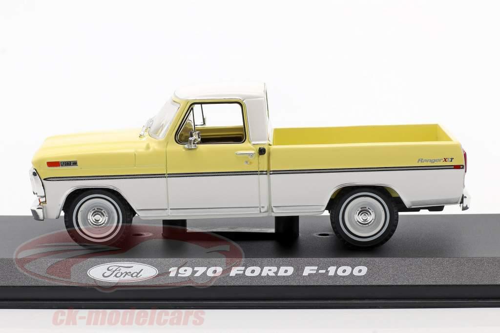 Ford F-100 Pick-Up Año de construcción 1970 amarillo / Blanco 1:43 Greenlight