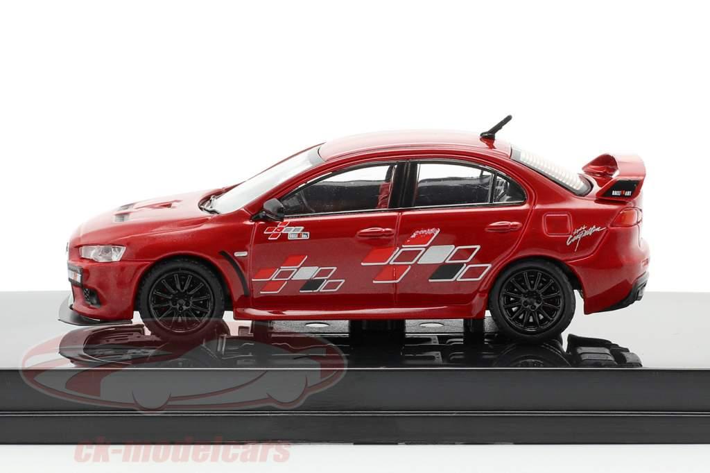 Mitsubishi Lancer Evolution X Ralliart rosso 1:64 Tarmac Works