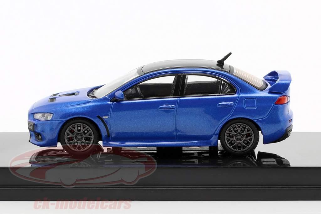 Mitsubishi Lancer Evolution X Final Edition octano azul 1:64 Tarmac Works
