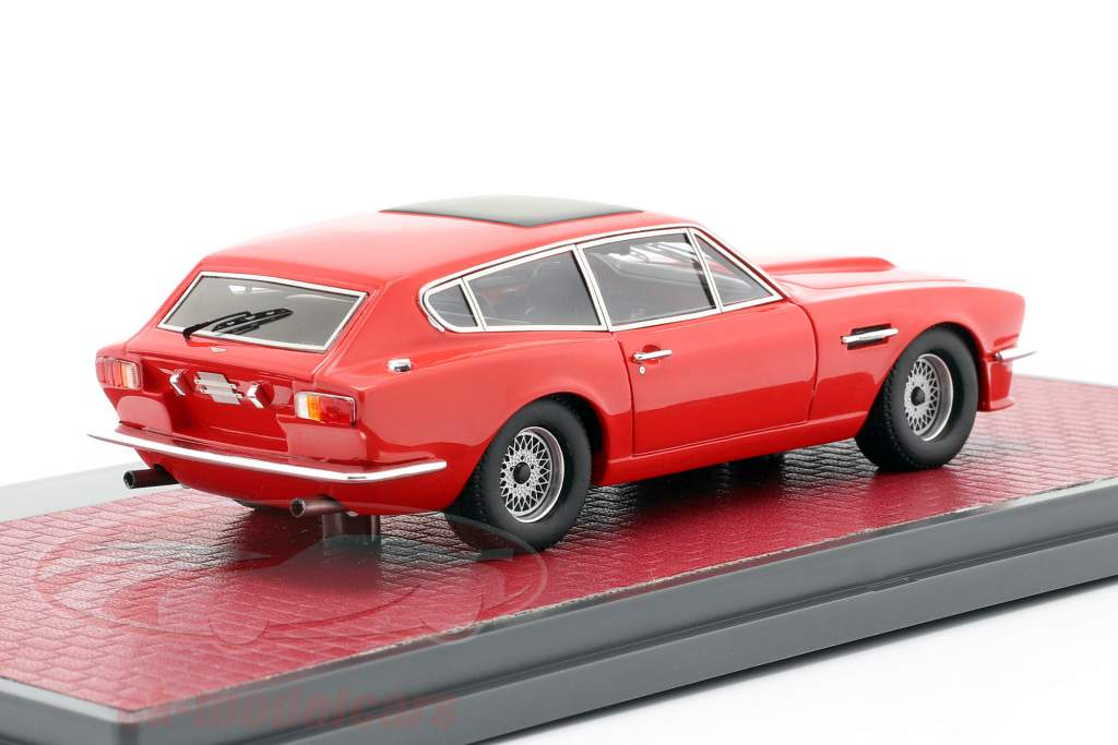 Aston Martin V8 Shooting Brake Bouwjaar 1986 rood 1:43 Matrix