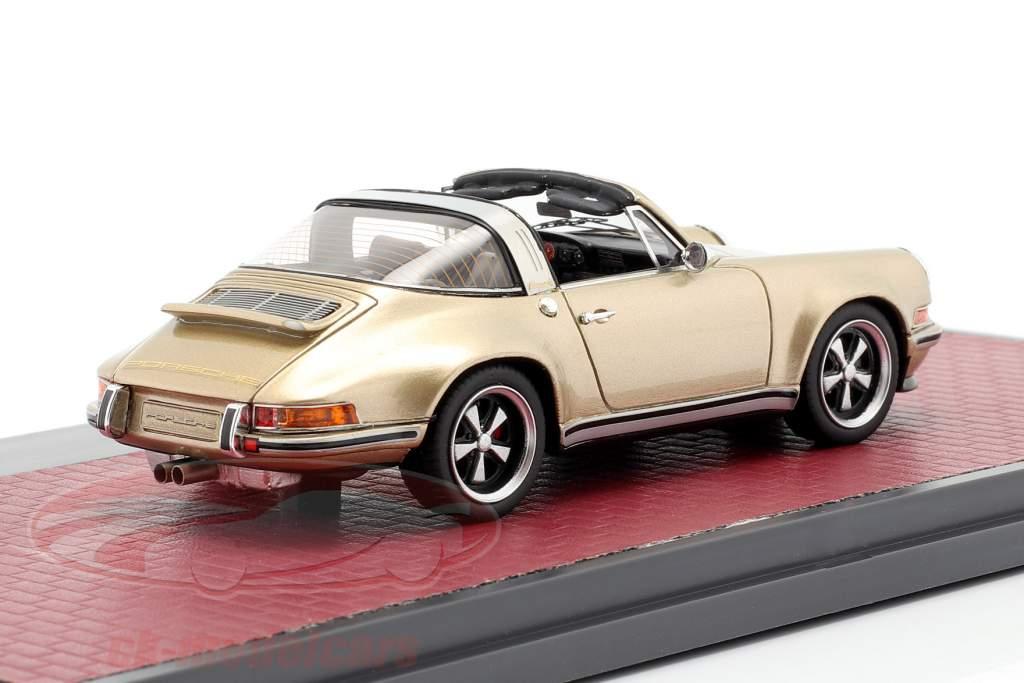Porsche 911 Targa Singer Design 2014 oro metálico 1:43 Matrix