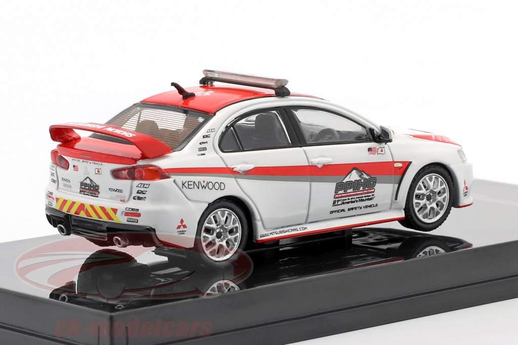 Mitsubishi Lancer Evolution X Pikes Peak Safety Car bianca / rosso 1:64 Tarmac Works