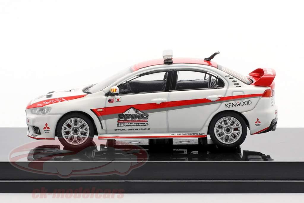 Mitsubishi Lancer Evolution X Pikes Peak Safety Car Branco / vermelho 1:64 Tarmac Works