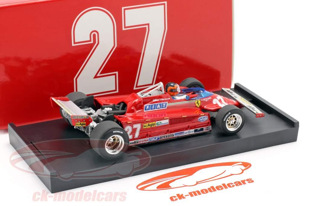 Gilles Villeneuve Ferrari 126CK #27 italiano GP formula 1 1981 1:43 Brumm