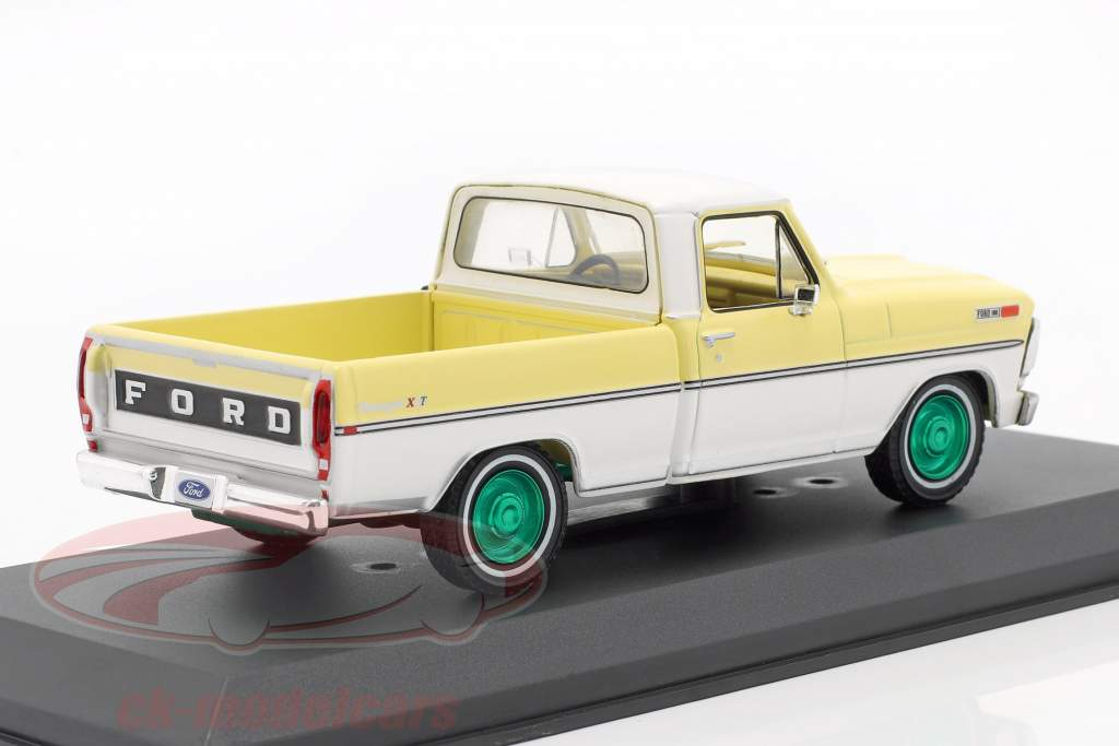 Ford F-100 Pick-Up Anno di costruzione 1970 giallo / bianca / verde cerchioni 1:43 Greenlight