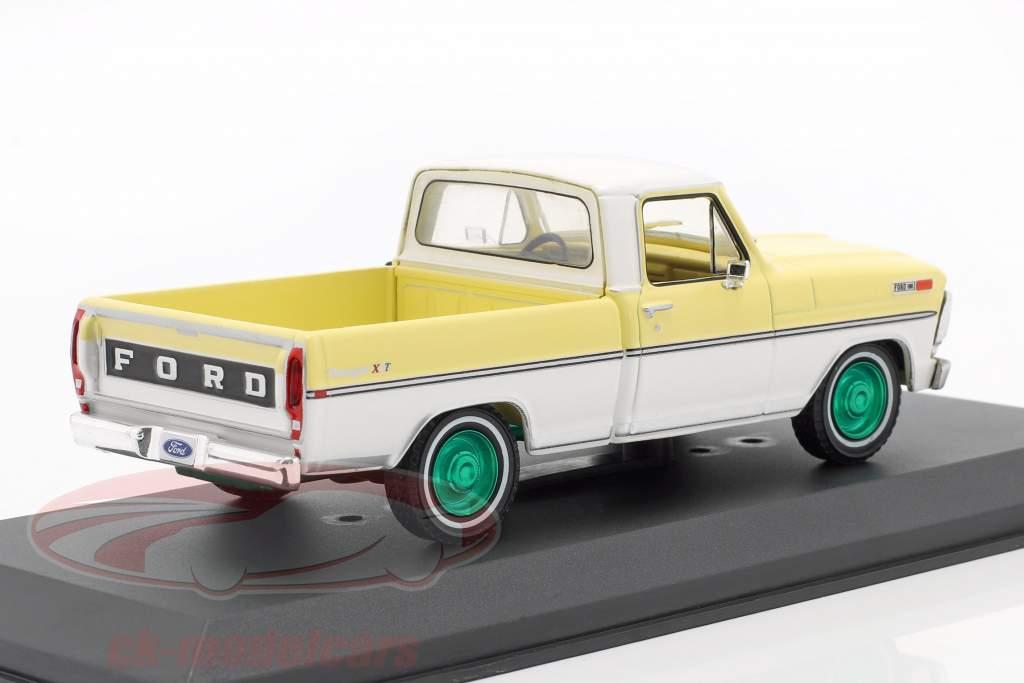 Ford F-100 Pick-Up Baujahr 1970 gelb / weiß / grüne Felgen 1:43 Greenlight