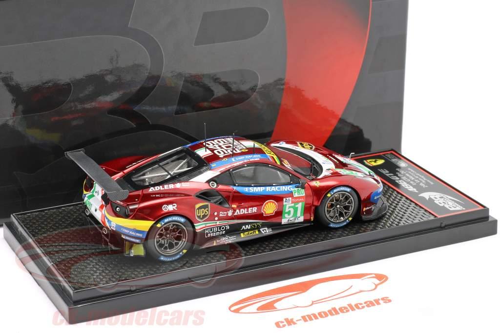 Ferrari 488 GTE #51 vencedora LMGTE Pro 24h LeMans 2019 AF Corse 1:43 BBR