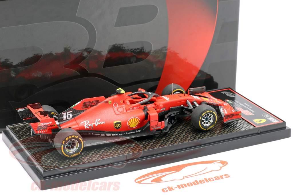Charles Leclerc Ferrari SF90 #16 vencedora Belga GP Fórmula 1 2019 1:43 BBR