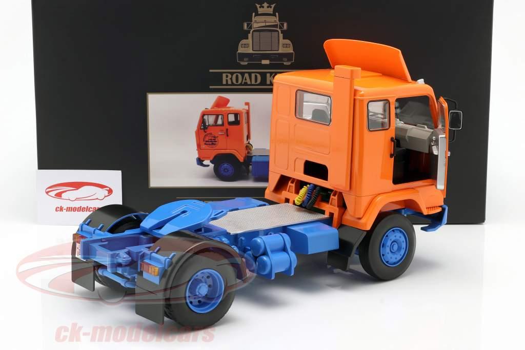 Volvo F88 Deutrans Truck year 1965 orange / blue 1:18 Road Kings