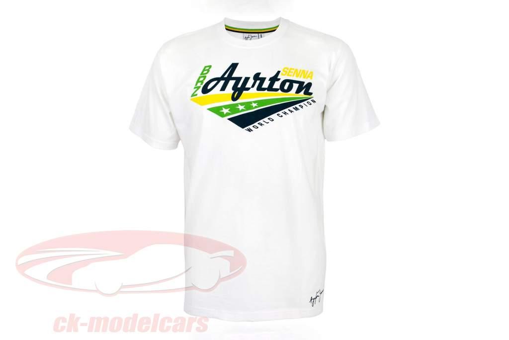 Ayrton Senna T-Shirt World Champion bianca