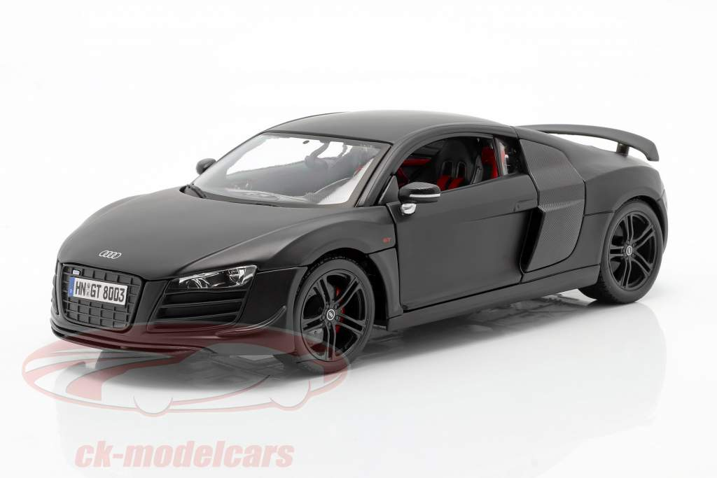 Audi R8 GT esteira Preto 1:18 Maisto