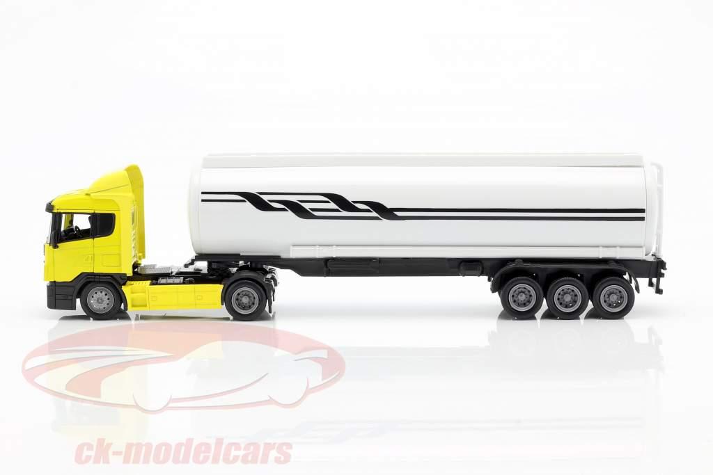 Scania R124 / 400 transportador de aceite de color amarillo uno y cuarenta y tres NewRay