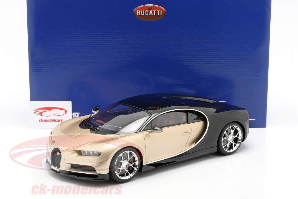 Bugatti Chiron year 2016 gold / black 1:12 Kyosho