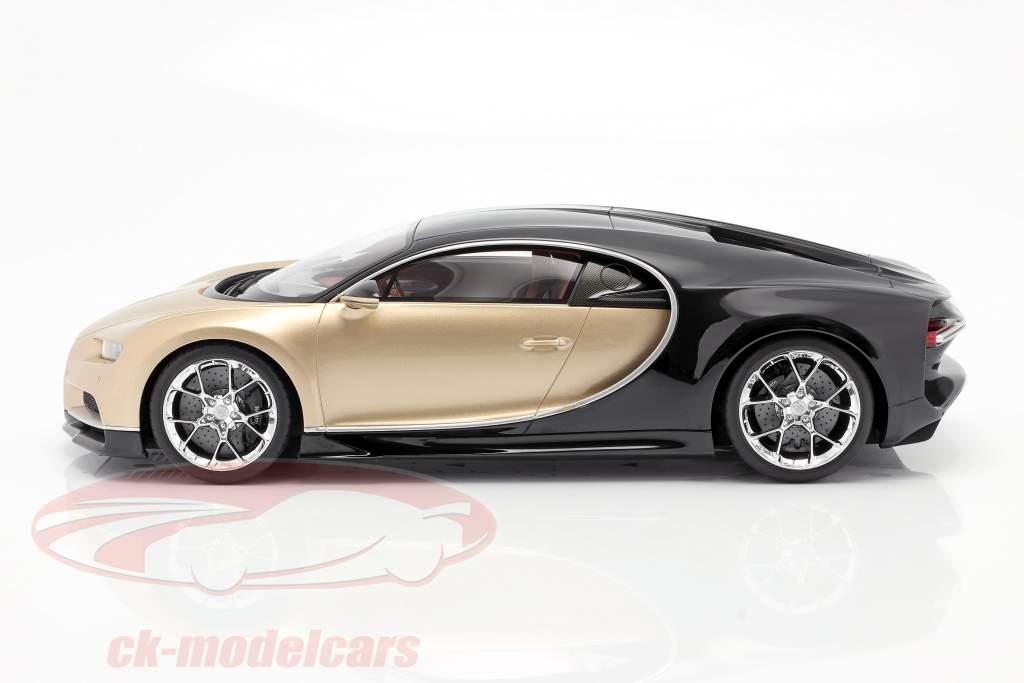 Bugatti Chiron Año de construcción 2016 oro / negro 1:12 Kyosho