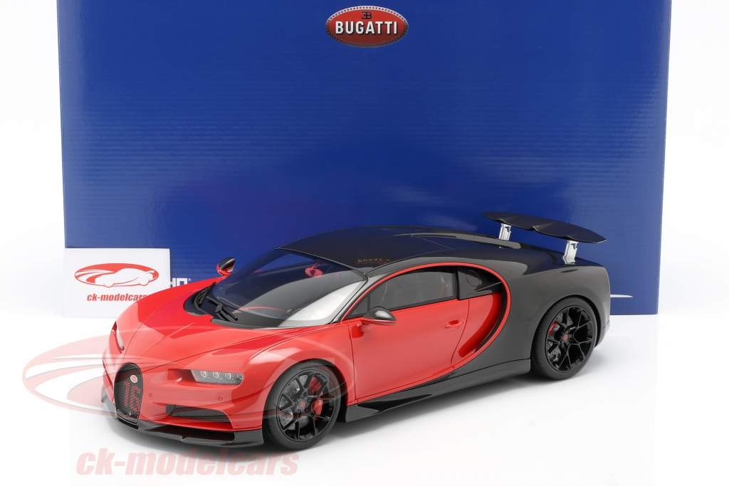 Bugatti Chiron Sport #16 Année de construction 2019 rouge / noir 1:12 Kyosho