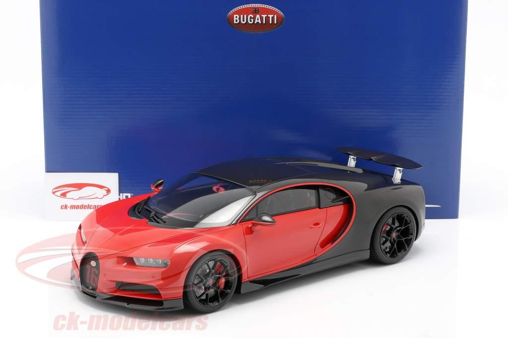 Bugatti Chiron Sport #16 Año de construcción 2019 rojo / / negro 1:12 Kyosho