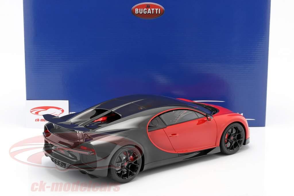 Bugatti Chiron Sport #16 Baujahr 2019 rot / schwarz 1:12 Kyosho