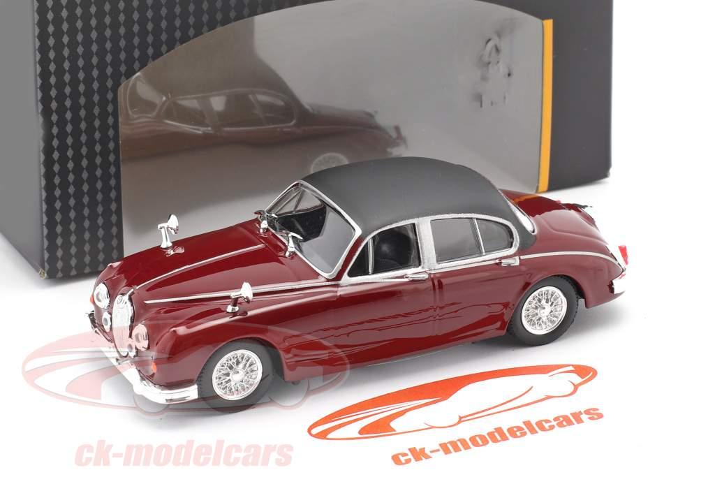 Jaguar MK II TV series Inspector Morse (1987-2000) dark red 1:43 Cararama