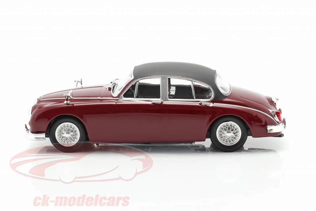 Jaguar MK II Series de Televisión Inspector Morse (1987-2000) oscuro rojo 1:43 Cararama
