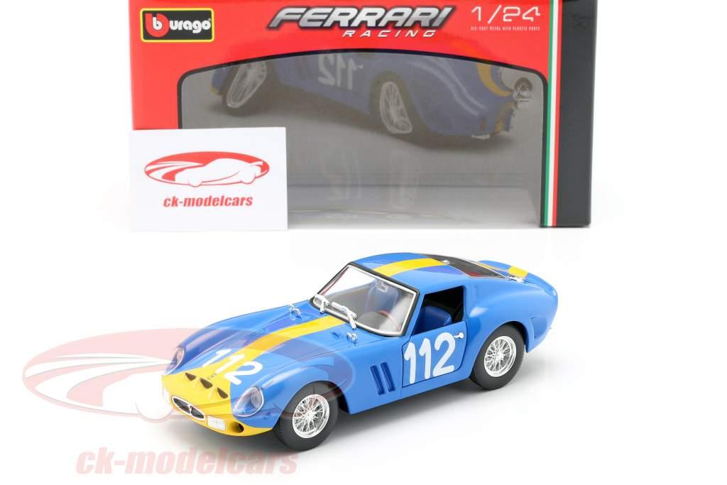 Ferrari 250 GTO #112 bleu / jaune 1:24 Bburago