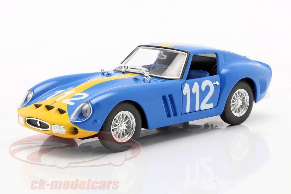 Ferrari 250 GTO #112 azul / amarelo 1:24 Bburago
