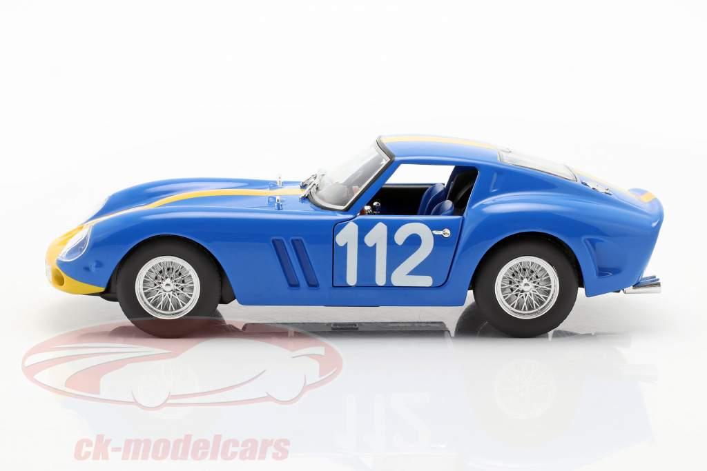 Ferrari 250 GTO #112 blau / gelb 1:24 Bburago