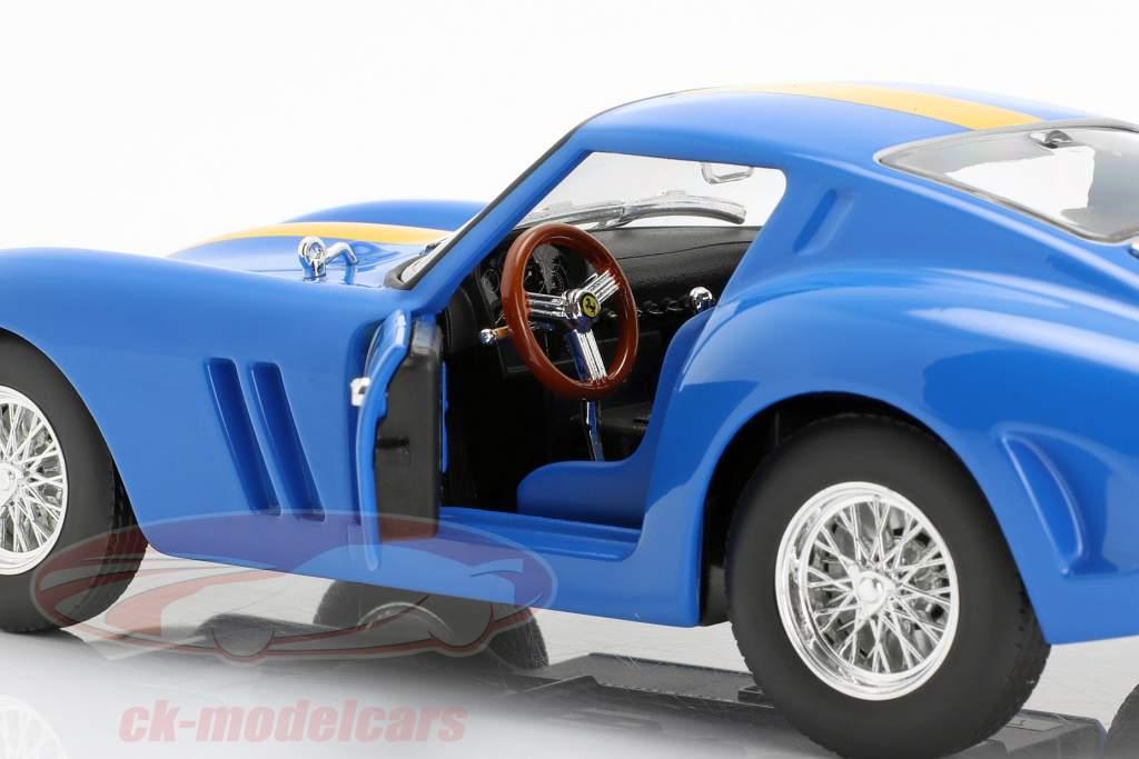 Ferrari 250 GTO #112 blauw / geel 1:24 Bburago