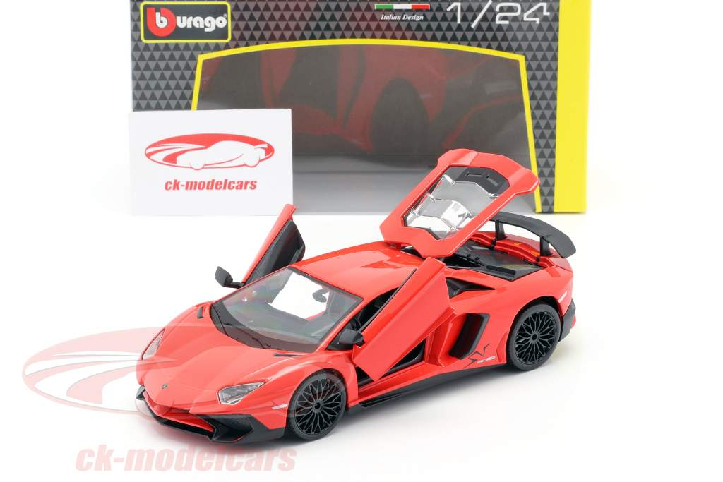 Bburago 1 24 Lamborghini Aventador Lp 750 4 Sv Red 18 21079 Model Car 18 21079 4893993210794 8719247370143