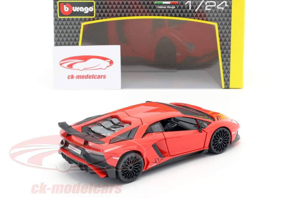 Lamborghini Aventador LP 750-4 SV rouge 1:24 Bburago
