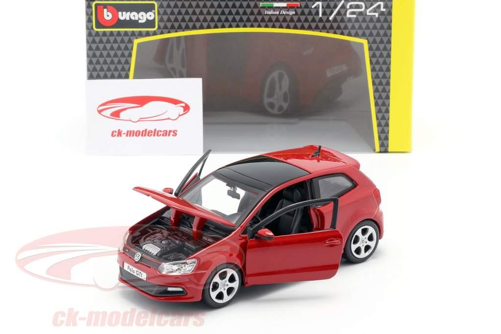 Volkswagen VW Polo MK5 GTI red 1:24 Bburago