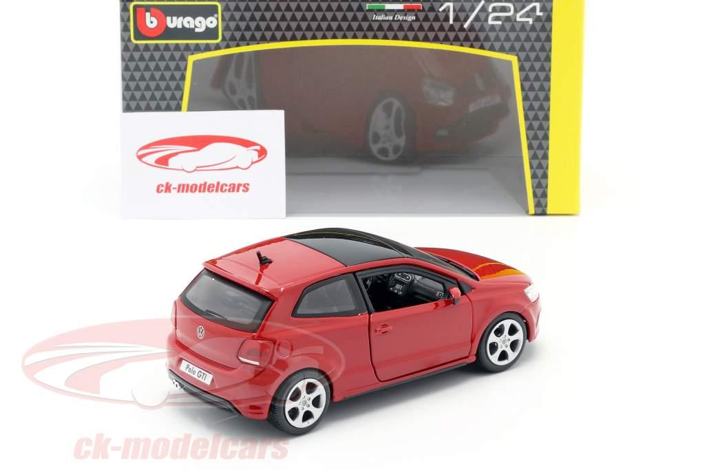 Volkswagen VW Polo MK5 GTI rojo 1:24 Bburago