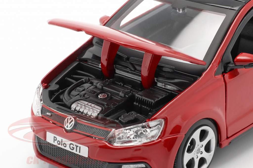 Volkswagen VW Polo MK5 GTI rood 1:24 Bburago