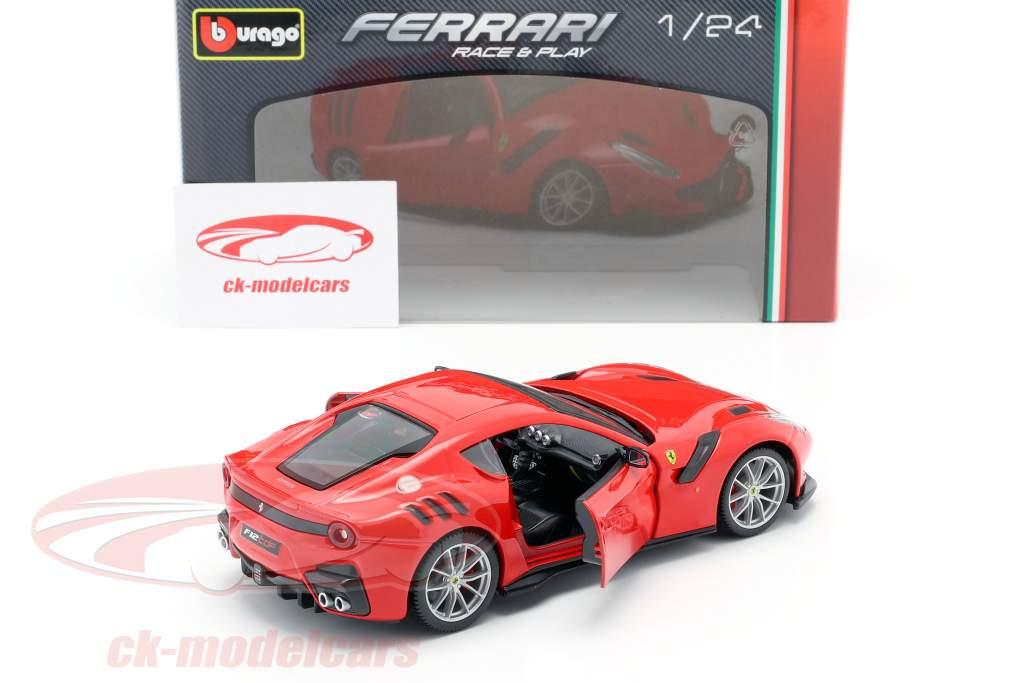 Ferrari F12 TDF Bouwjaar 2016 rood 1:24 Bburago