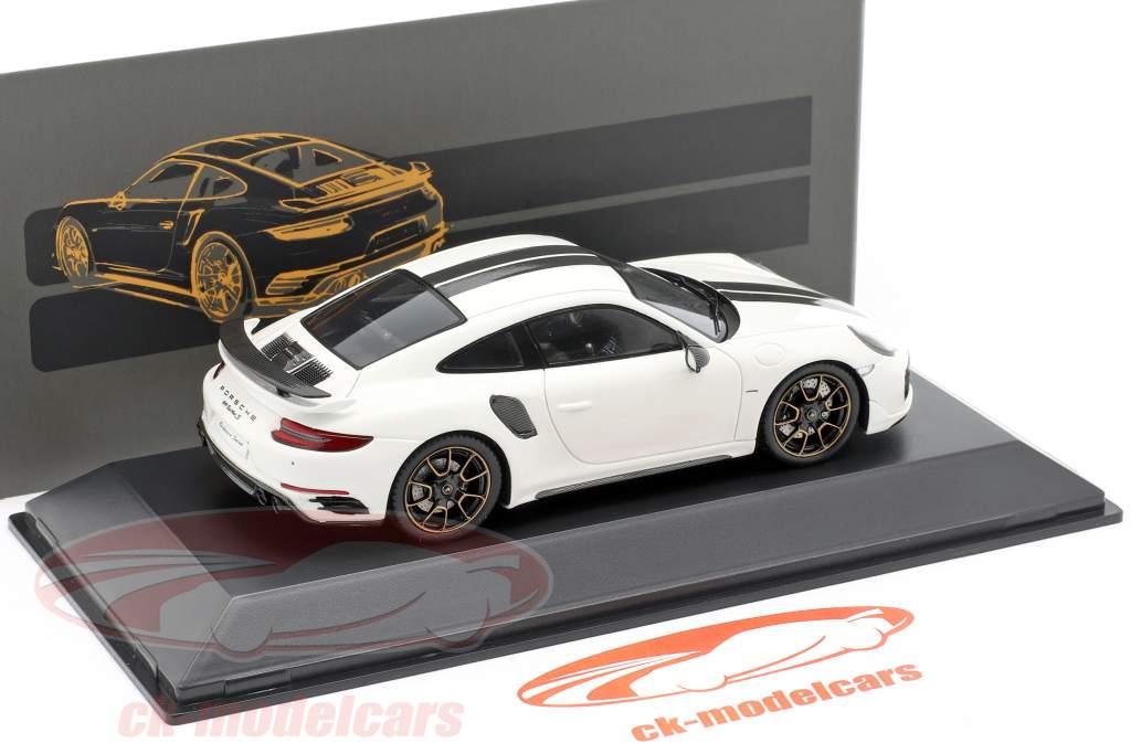 Porsche 911 (991) Turbo S Exclusive Series White, black 1:43 Spark