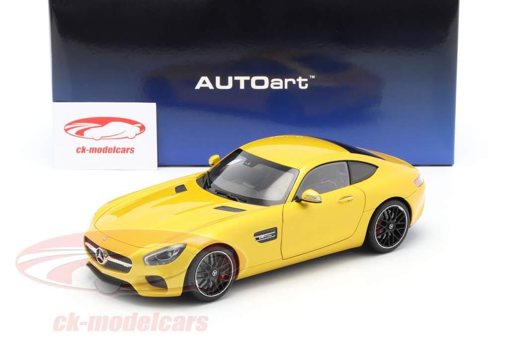 Mercedes-Benz AMG GTS Opførselsår 2015 gul 1:18 AUTOart