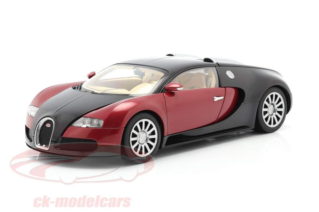 Bugatti EB 16.4 Veyron Baujahr 2006 schwarz / dunkelrot 1:18 AUTOart