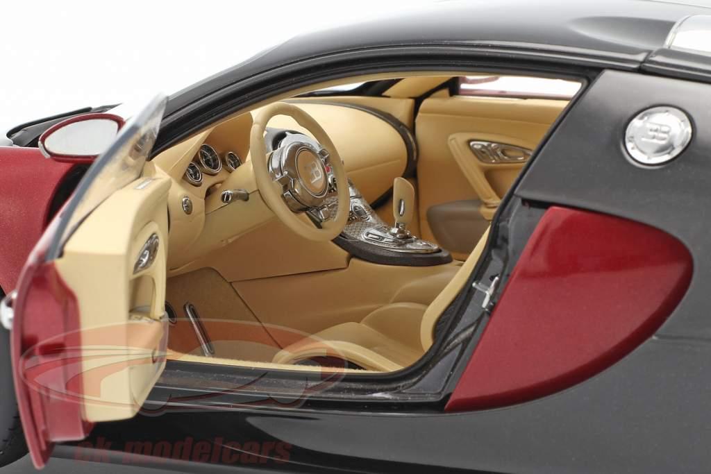 Bugatti EB 16.4 Veyron año de construcción 2006 negro / púrpura 1:18 AUTOart