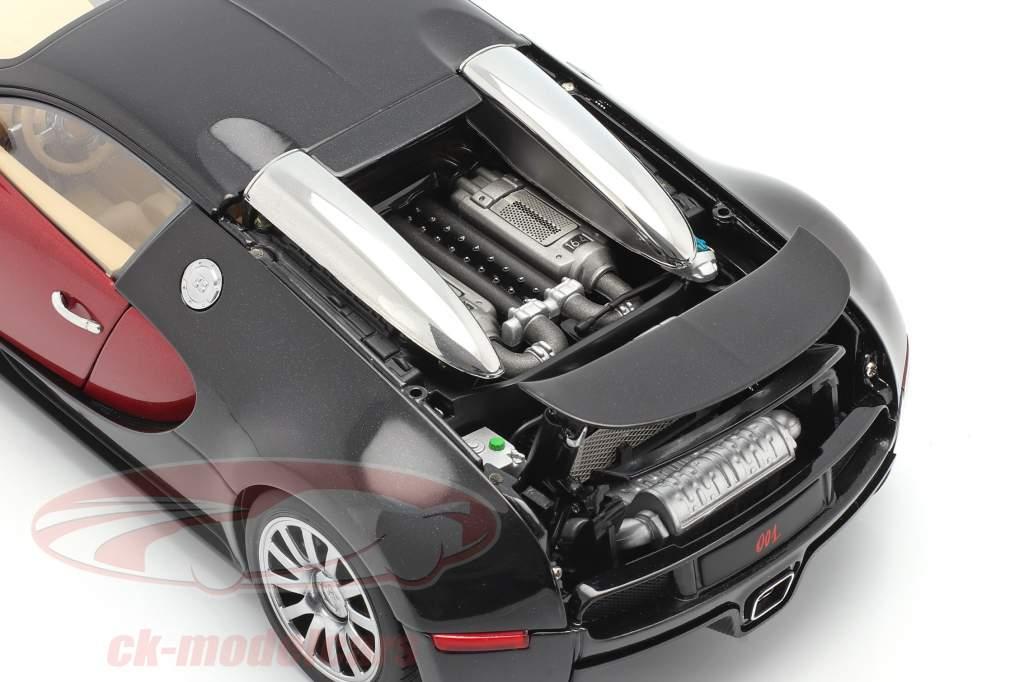 Bugatti EB 16.4 Veyron année de construction 2006 noir / pourpre 1:18 AUTOart