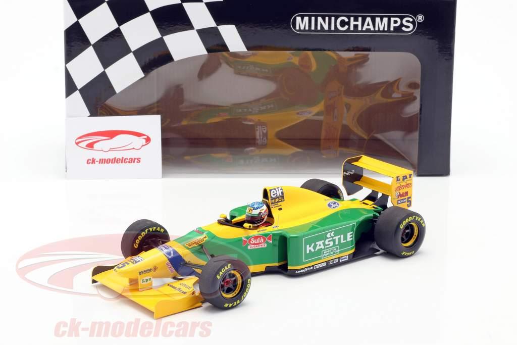 M. Schumacher Benetton B193B #5 1e Huis Podium Duitse GP F1 1993 1:18 Minichamps