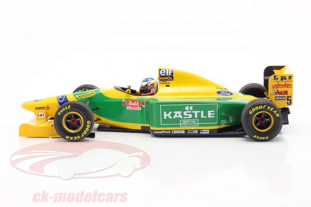 M. Schumacher Benetton B193B #5 Primero Casa Podio alemán GP F1 1993 1:18 Minichamps