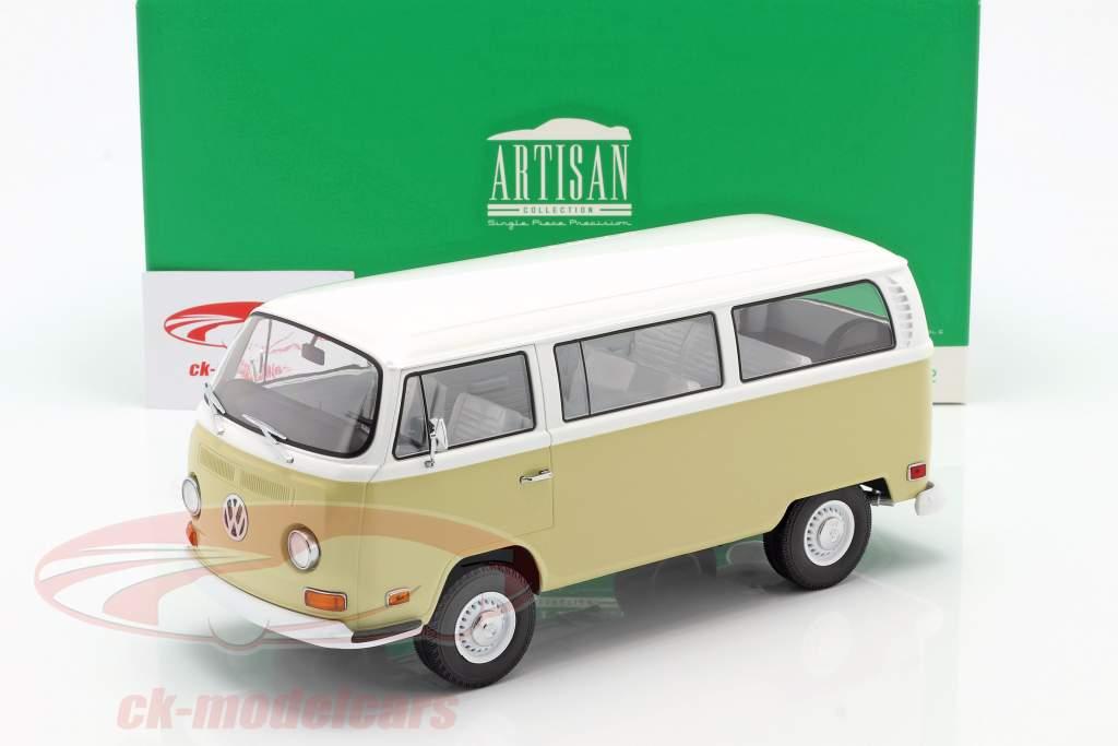Volkswagen VW T2a Bus year 1971 beige / white 1:18 Greenlight