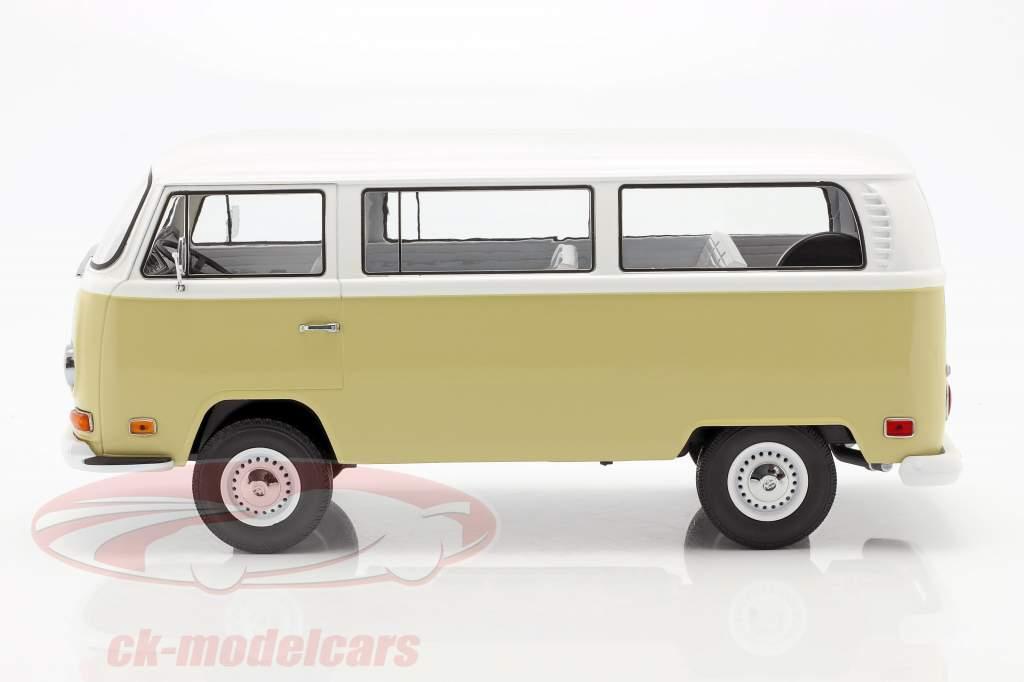 Volkswagen VW T2a Bus Baujahr 1971 beige / weiß 1:18 Greenlight