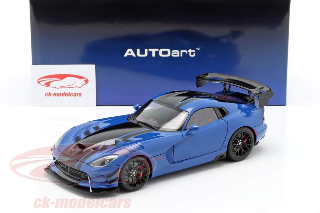 Dodge Viper ACR Byggeår 2017 competition blå / sort 1:18 AUTOart