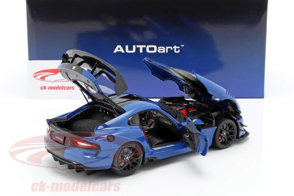 Dodge Viper ACR Année de construction 2017 competition bleu / noir 1:18 AUTOart