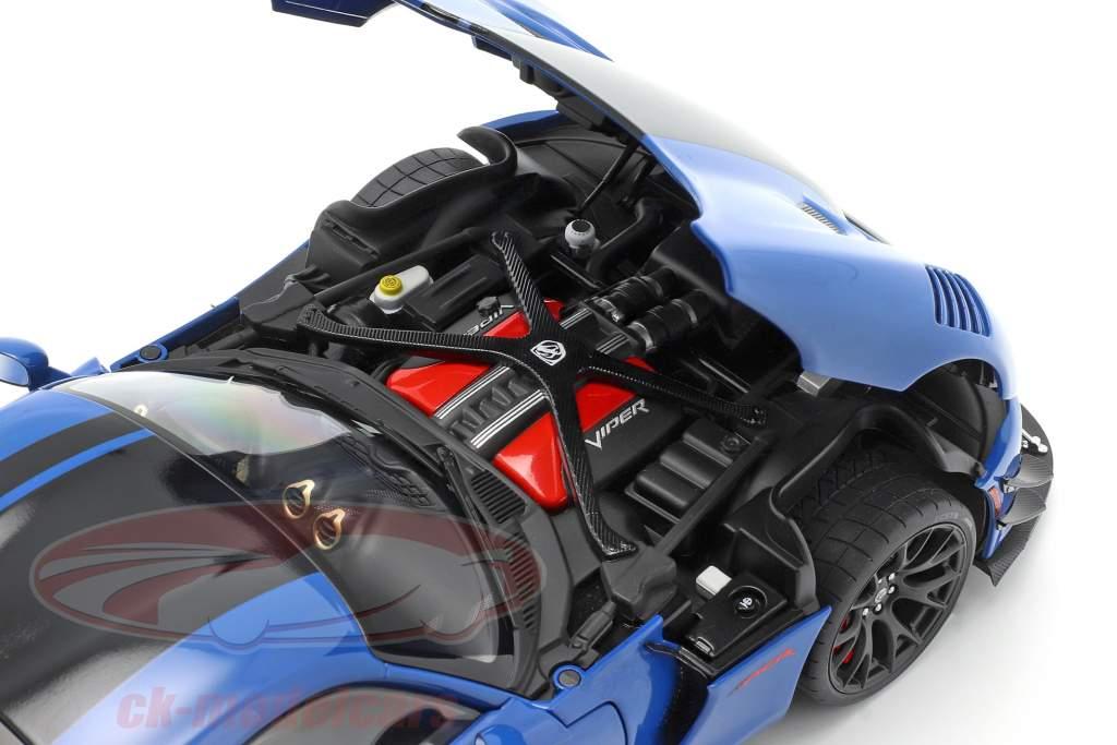 Dodge Viper ACR Bouwjaar 2017 competition blauw / zwart 1:18 AUTOart