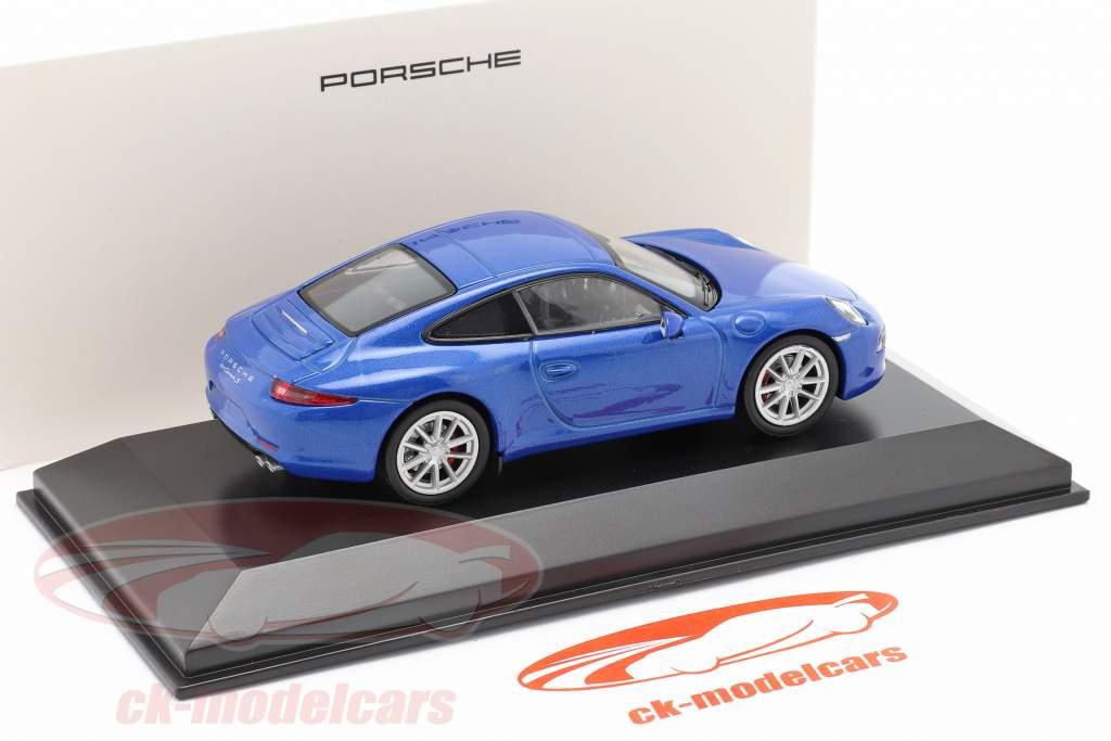 Porsche 911 (991) Carrera S azul metálico 1:43 Welly