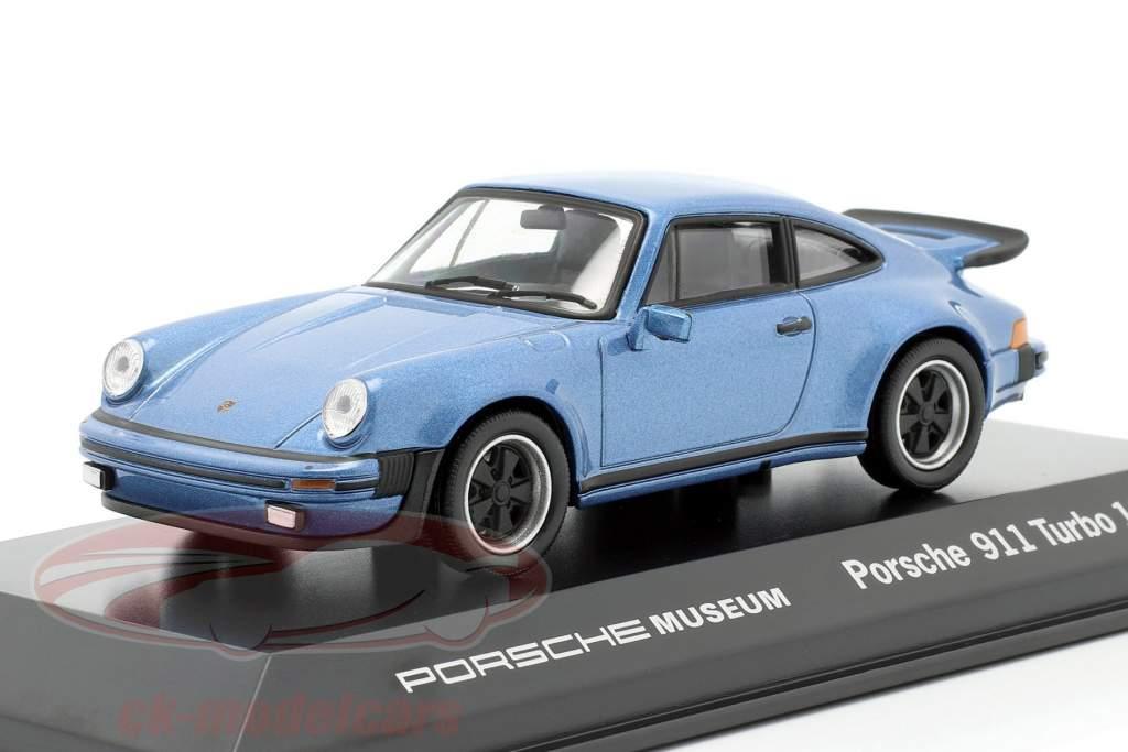 Porsche 911 Turbo année 1974 bleu métallique 1:43 Welly