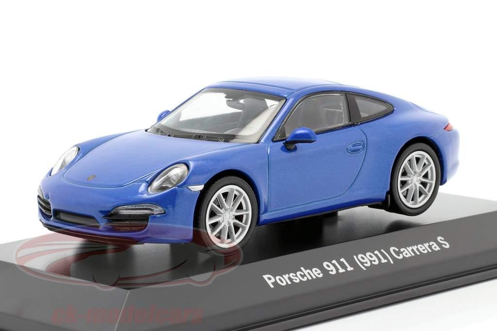 Porsche 911 (991) Carrera S bleu métallique 1:43 Welly