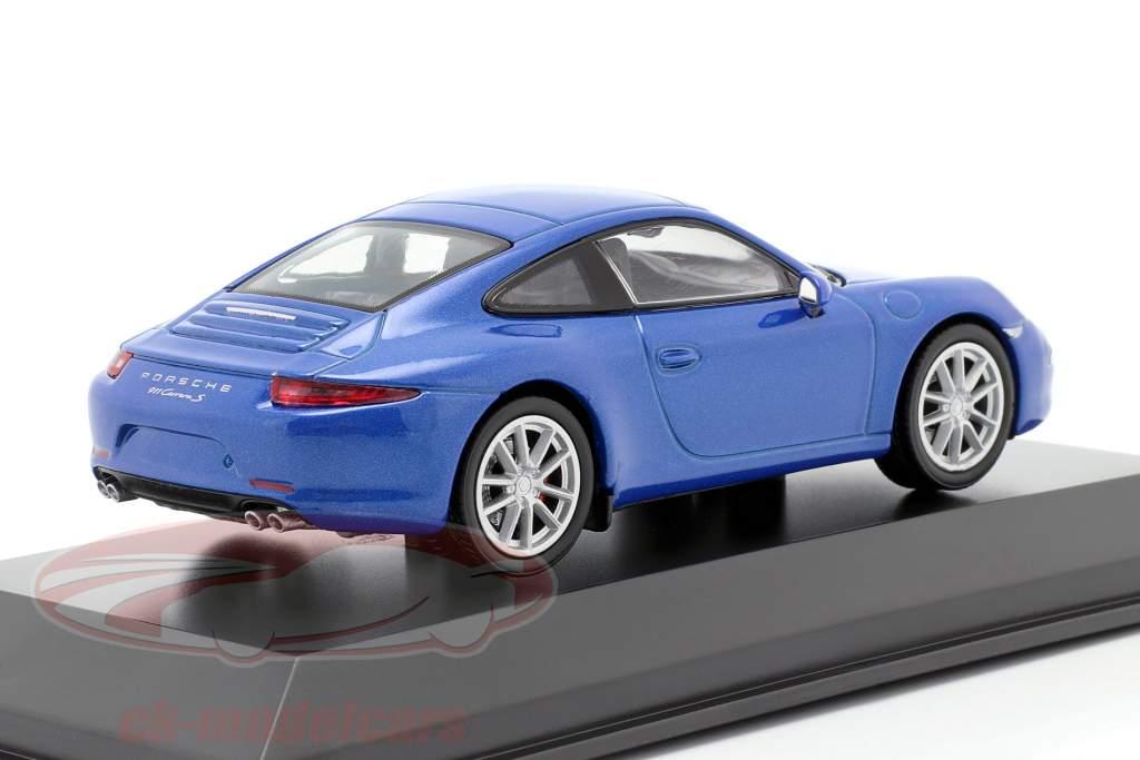 Porsche 911 (991) Carrera S blau metallic 1:43 Welly