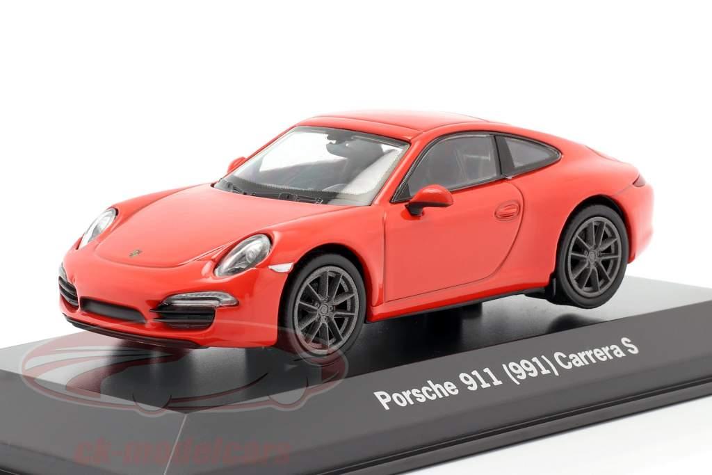 Porsche 911 (991) Carrera S lava appelsin 1:43 Welly